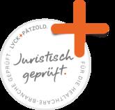 Juristisch geprüft Siegel von der Kanzlei Lyck & Pätzold ein Partner von MediEcho